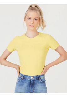 Camiseta Feminina Básica Em Algodão