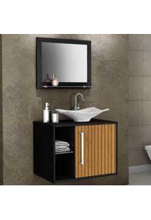Armário De Banheiro Baden Preto/Marrom - Bechara Móveis