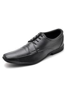 Sapato Social Top Franca Shoes Tamanhos Especiais Preto