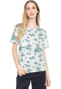 Camiseta Lacoste Estampada Branca/Verde