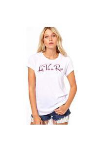 Camiseta Coolest La Vie En Rose Branco