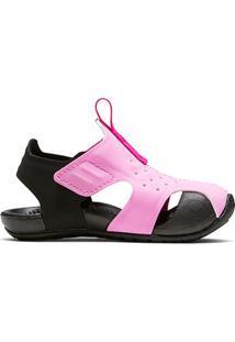 Sandália Infantil Nike Sunray Protect 2 - Masculino-Rosa+Preto