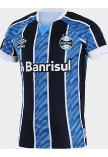 Camisa Umbro Grêmio 2020 I Tricolor Infantil