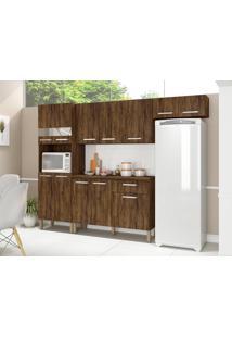 Cozinha Compacta Com Balcão Kit'S Paraná Versalhes, 12 Portas, 1 Gaveta