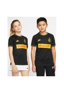 Camisa Nike Inter De Milão Iii 2019/20 Torcedor Pro Infantil