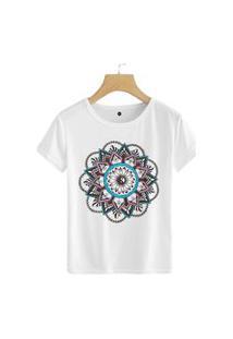 Camiseta Coolest Mandala Elementar Branco