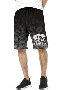 Bermuda Chess Clothing Dri Fit - Masculino-Cinza