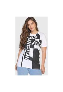 Camiseta Dimy Lettering Branca/Preta