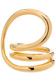 Charlotte Chesnais Anel Round Trip De Prata Banhada A Ouro - Yellow Vermeil