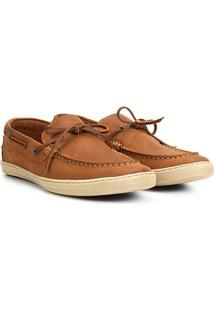 Dockside Couro Richards Relax Masculino - Masculino-Caramelo