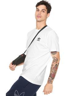 2e010a742a Camiseta Adidas Originals Reta Logo Branca