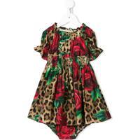 63482efac8 Dolce   Gabbana Kids Vestido Animal Print - Marrom