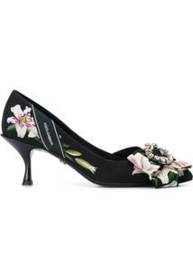 Dolce & Gabbana Sapato Com Aplicação - Preto