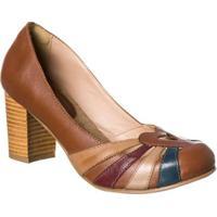 2db0155b5 Sapato Boneca Retro Malbork Em Couro Salto 7Cm - Feminino-Marrom