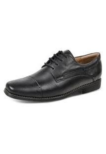 Sapato Social Derby Sandro Moscoloni Golden Shoes Preto