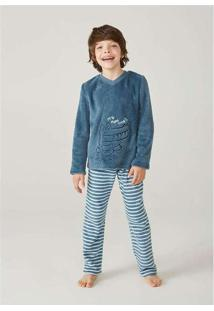 Pijama Infantil Menino Em Fleece Hering Kids Verde