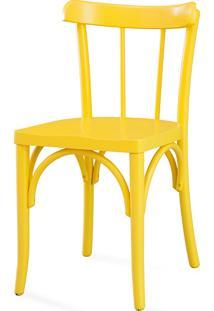 Cadeira Para Sala De Jantar - Laca Amarela - Justine - 43X47,5X78,5 Cm