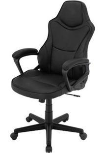 Cadeira Escritorio Denver Preto Estofada Em Pu - 43966 - Sun House