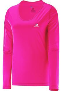 Camiseta Feminina Manga Longa Comet Ls Salomon Pink Gg