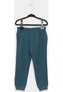 Calça Moletom Bebê Brandili Jogger Básica Masculina - Masculino-Verde Escuro