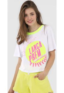 Camiseta Lança Perfume Summer Neon Branca