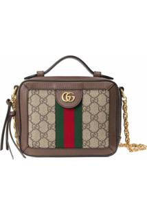 Gucci Bolsa Tiracolo Ophidia Gg Mini - Marrom
