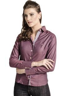 9722417358 Camisa Carlos Brusman Feminina Slim - Feminino-Vinho