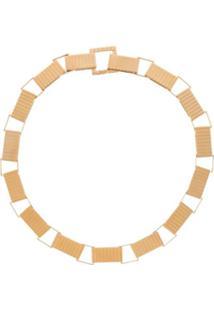 I.V.I. Colar Com Corrente Grossa Geométrica - Dourado
