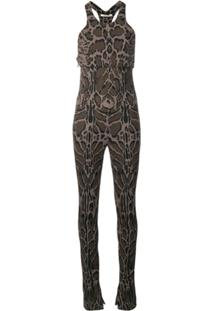 Roberto Cavalli Animal Print Playsuit - Roxo