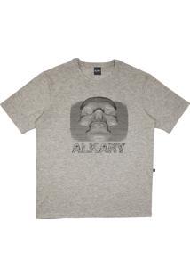 Camiseta Alkary Caveira 3D Mescla