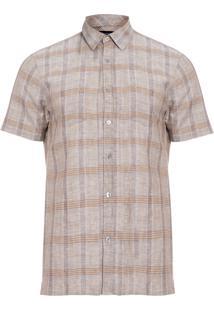 Camisa Masculina Linen - Cinza