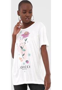 Camiseta Colcci Estampada Off-White - Kanui