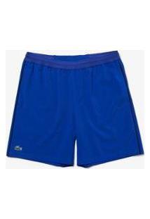 Bermuda Lacoste Sport Regular Fit Masculina - Masculino-Azul+Preto