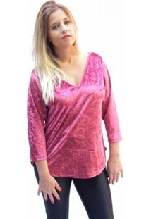 Blusa Abalot Veludo Molhado Pink