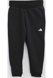 Calça Adidas Infantil Logo Preto