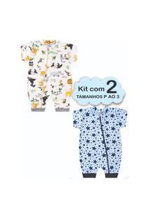 Roupa Bebê 2 Macacão Menino P Ao 3 Enxoval Recém Nascido Multicolorido