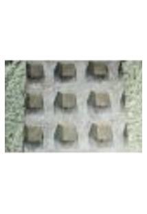 Papel De Parede Importado Vinilico Lavavel 53Cm X 10M Cinza E Laranja Claro