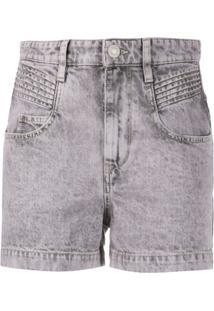 Isabel Marant Étoile Short Jeans Hiana - Roxo