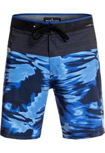 "Bermuda Quiksilver Boardshort Highline Blackout 19"" Masculina - Masculino-Azul"