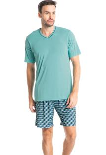Pijama Masculino Curto Estampado Clóvis