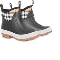 de8879b090b Burberry Kids Vintage Check Neoprene And Rubber Rain Boots - Preto