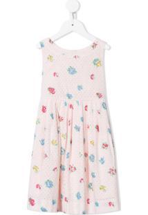 Bonpoint Vestido Floral De Algodão - Rosa