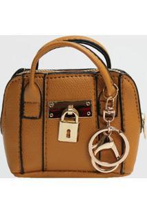 Porta Moedas Chaveiro Mini Bag Le Postiche (Dourado, Único)