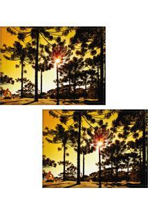 Jogo Americano Colours Creative Photo Decor - Araucárias - 2 Peças