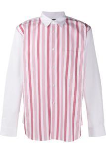 Comme Des Garçons Homme Plus Stripe Front Shirt - Branco