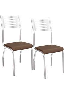 Kit 2 Cadeiras Munique C047 - Kappesberg - Marrom