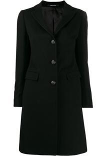 Tagliatore Classic Single-Breasted Coat - Preto