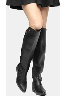 4a7000221 Bota Over The Knee Via Marte Bico Fino Feminina - Feminino