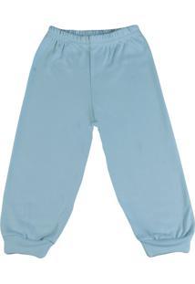 Calça Ano Zero Bebê De Suedine Sem Pezinho Ano Zero - Azul - Kanui