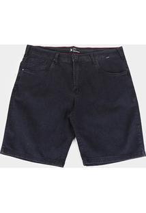 Bermuda Jeans Plus Size Hurley Masculina - Masculino-Preto